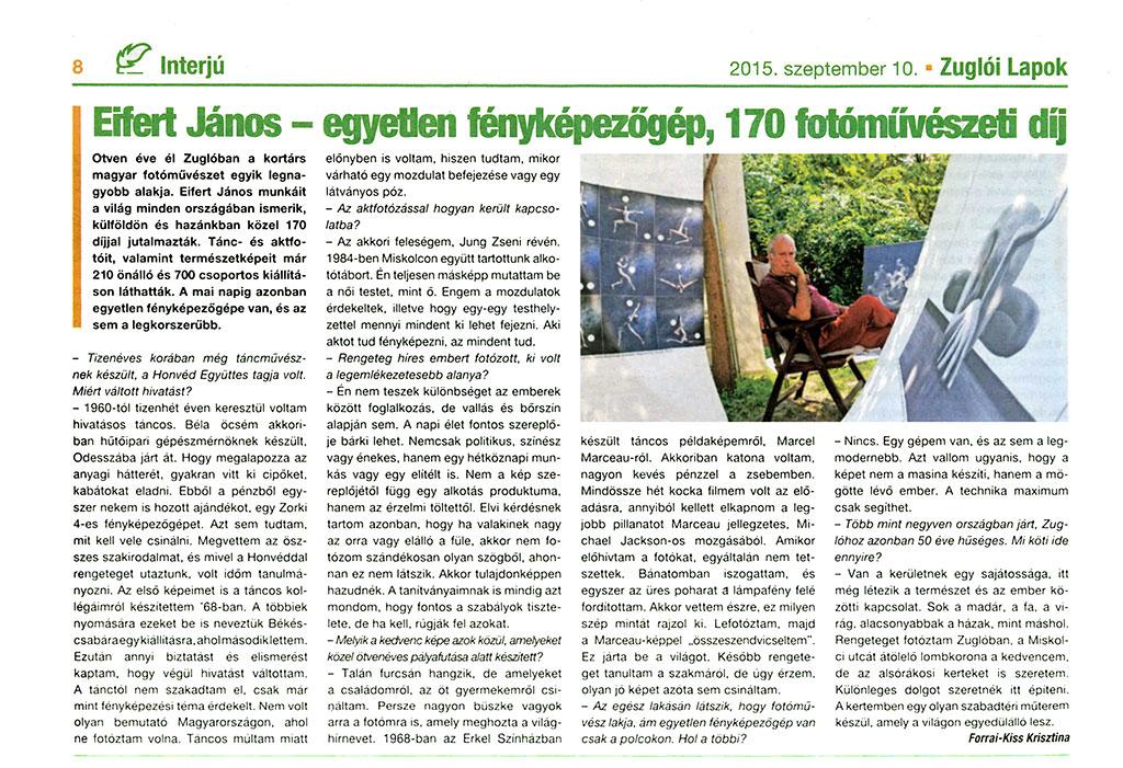 2015.09.10.-Zuglói-Lapok_Eifert-János-egyetlen-fényképezőgép-170-fotóművészeti-díj