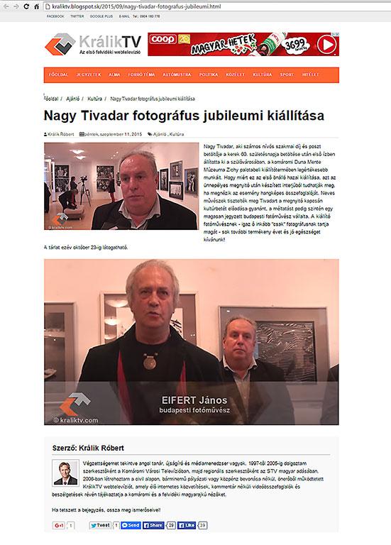 2015.09.11.-KrálikTV_Nagy-Tivadar-jubileumi-kiállítása