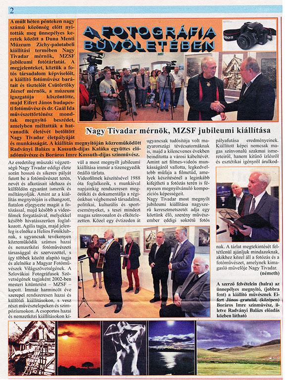 Dunatáj, 2015.09.18. Nagy-Tivadar-jubileumi-kiállítása