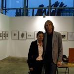 Barta-Zsolt Péter feleségével, ART MARKET BUDAPEST, 2015.10.08-11. (Eifert János felvétele)