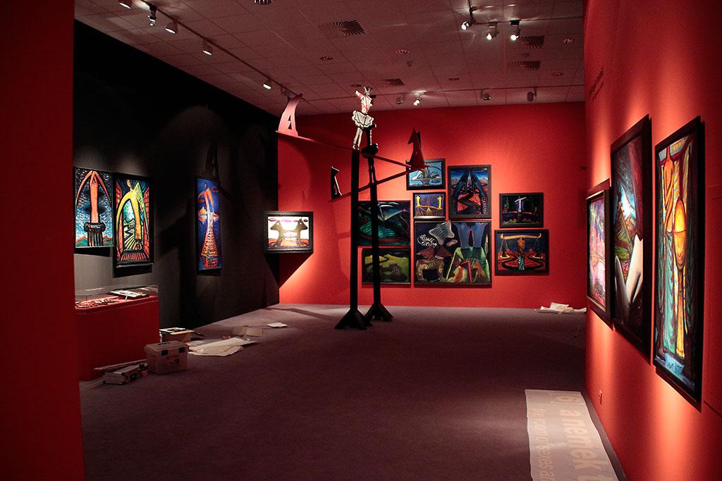 2015.11.04. Az El Kazovszkij-kiállítás részlete, a megnyitó előtti napon (Eifert János felvétele)