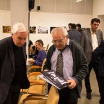 Gránitz Miklós és Csordás Gábor a MAOE Fotóművészeti Tagozatának évadzáró találkozóján, MÚOSZ székház, 2015.12.14. (Eifert János felvétele)