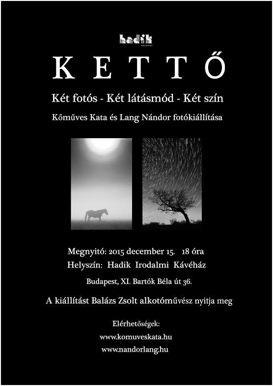 4566068f9f 2015.12.15. KETTŐ - Hadik Irodalmi Kávéház