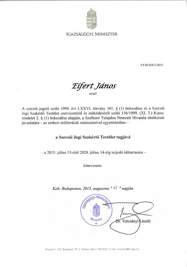 2015.08.25.-Igazságügyi-Miniszter-kinevezése-szakértőként