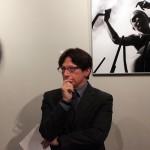 2016.12.05. Gian Luca Borghese, az Olasz Kultúrintézet igazgatója Darab Dénes kiállításának megnyitóján (Eifert János felvétele)