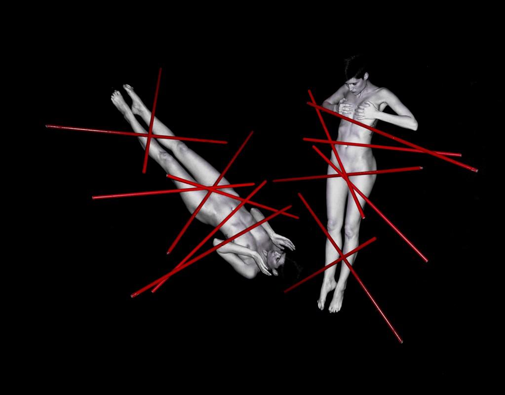 Janos Eifert: Nude with red Bars